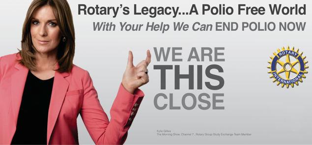Rotary's legacy... a Polio free world